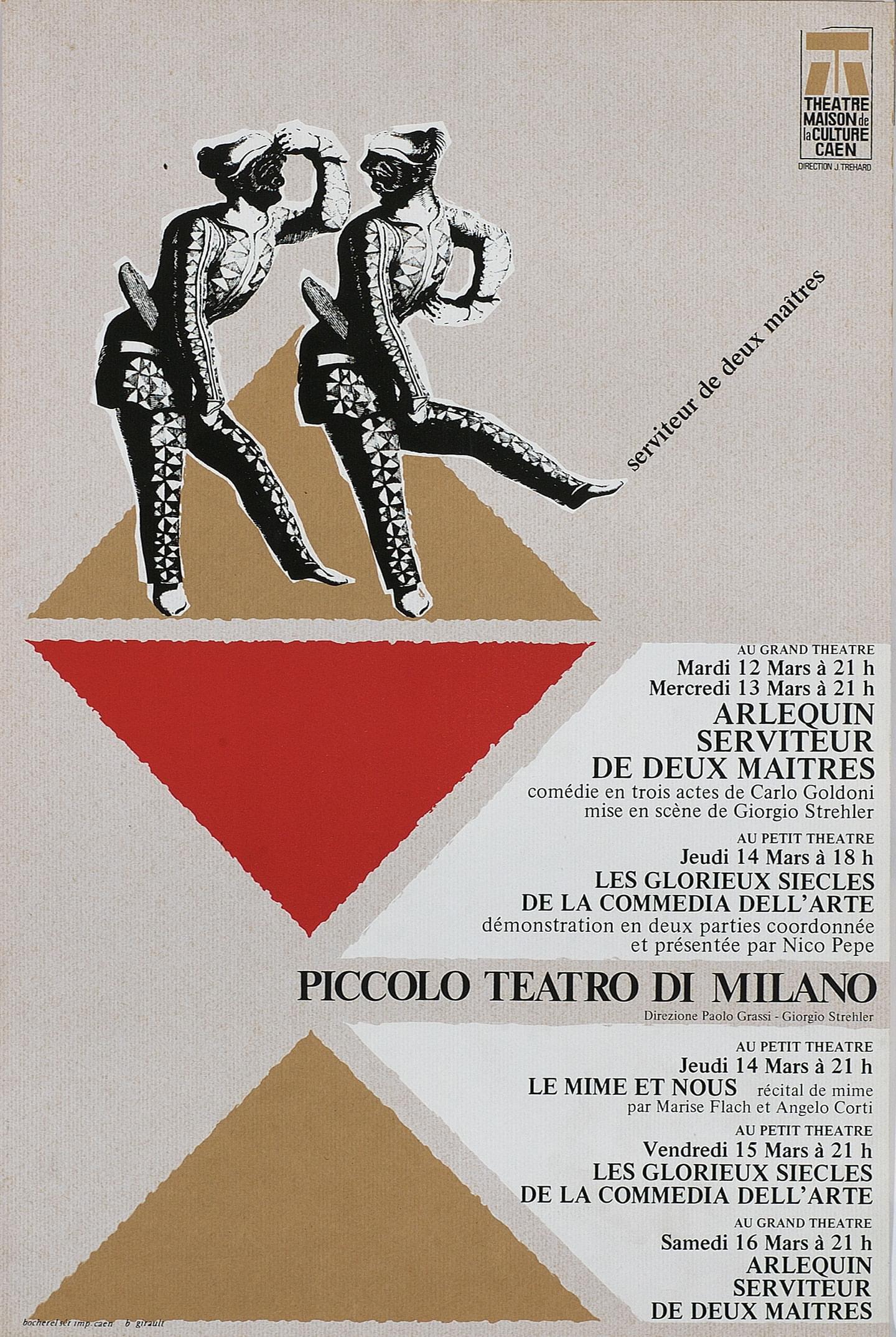 Caen, 12 marzo 1968 - Archivio Piccolo Teatro di Milano