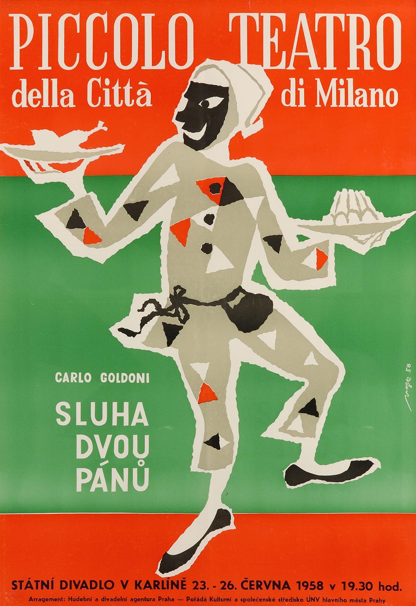Praga, 23 giugno 1958 - Archivio Piccolo Teatro di Milano