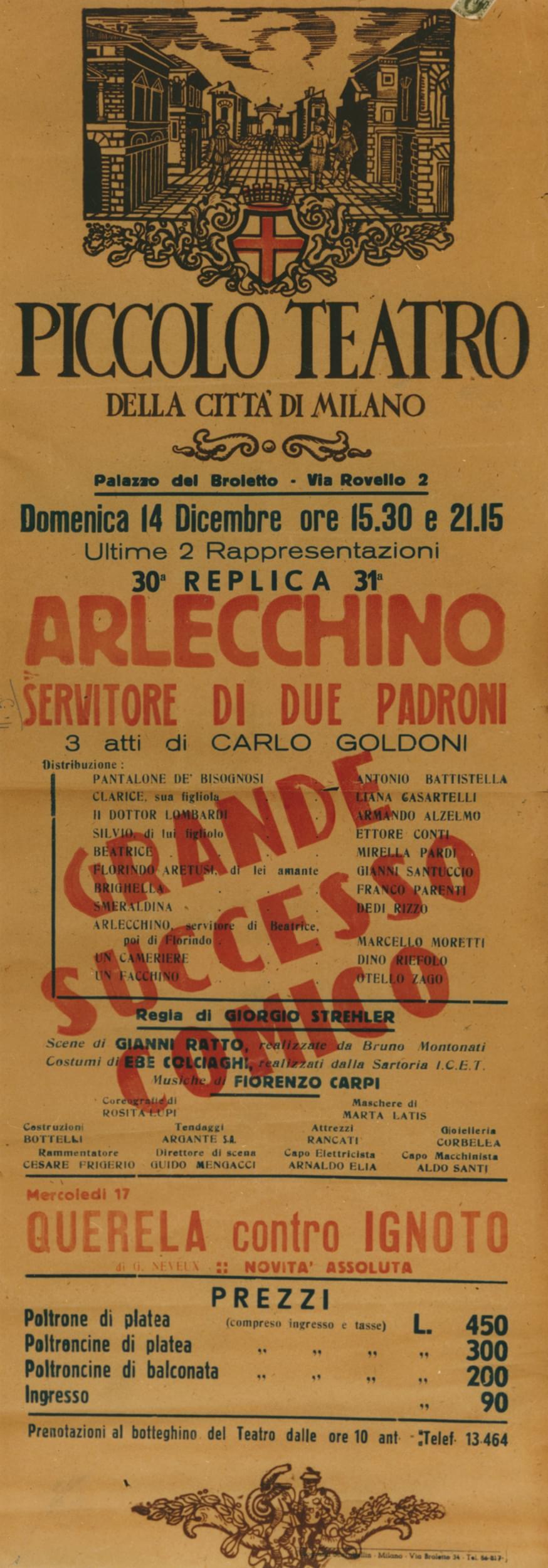Locandina Arlecchino 1947
